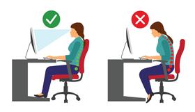 Prendre la posture adéquate devant son poste de travail