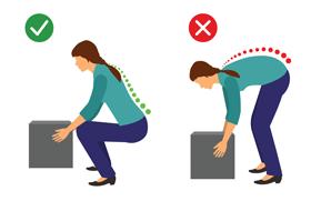 Adopter la bonne posture lorsqu'on soulève des charges lourdes